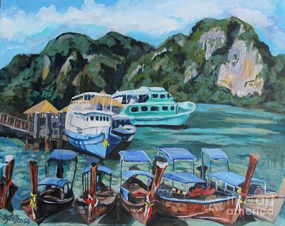 Painting - Thailand Paradise by Jan Bennicoff