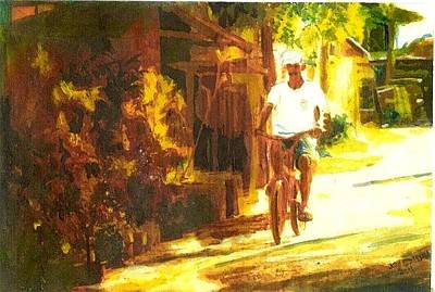 Painting - Thailand Ride by John Brisson