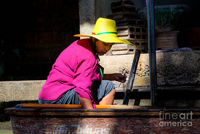 Photograph - Thailand's Floating Market 2 by Rene Triay Photography