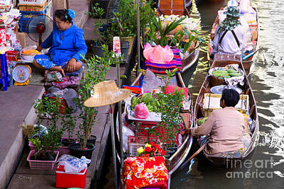 Photograph - Thailand's Colorful Floating Market by Rene Triay Photography