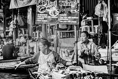 Polaroid Camera - Thailands Floating Market by Donald Carr