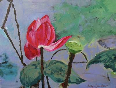 Lilly Pond Painting - Thailands Tulip by Kelly M Jenkins