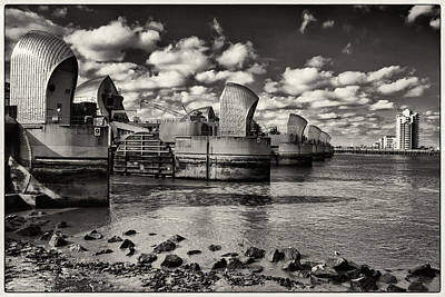 Photograph - Thames Barrier At Low Tide by Lenny Carter