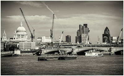Photograph - Thames London Skyline by Stewart Marsden