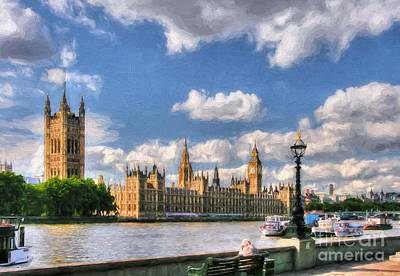 Photograph - Thames River In London # 3 by Mel Steinhauer