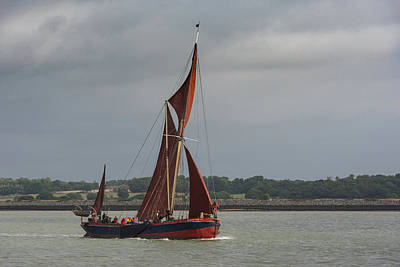 Photograph - Thames Sailing Barge Repertor by Gary Eason
