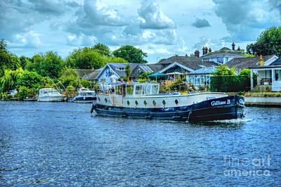 Photograph - Thames Tug Boat by Lance Sheridan-Peel