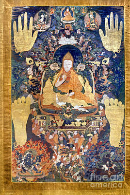 Photograph - Thangka: Dalai Lama by Granger