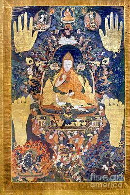 Dalai Lama Photograph - Thangka: Dalai Lama by Granger
