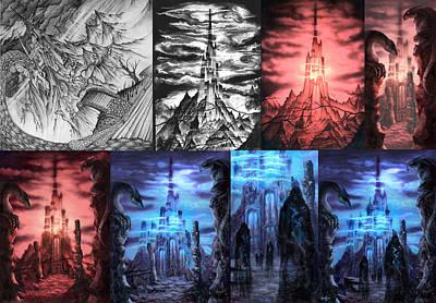 Mixed Media - Thangorodrim Progression by Curtiss Shaffer