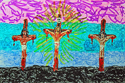 Thank God For Good Friday 3 Original by Carl Deaville