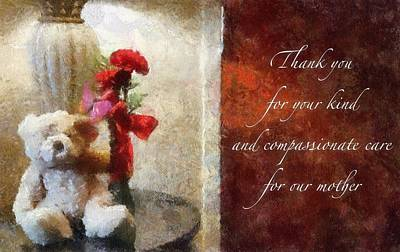Photograph - Thank You by Betsy Foster Breen