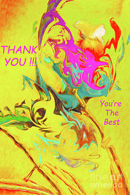 Photograph - Thank You Card Abstract Lilac Breasted Roller by Kay Brewer