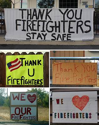 Photograph - Thank You Firefighters Collage by Patricia Strand