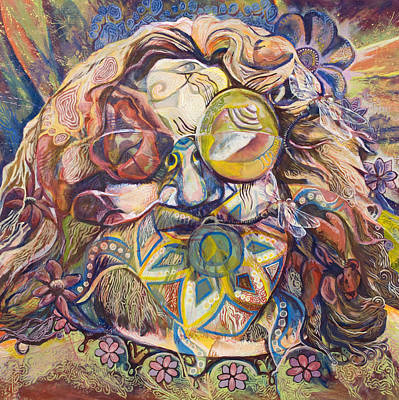 Psychedelic Painting - Thank You For A Real Good Time by Tyler Auman
