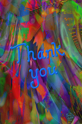 Thank You Art Print by Kevin Caudill