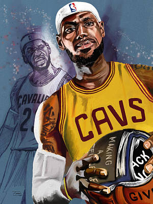 Lebron Drawing - Thank You, Lebron by Terri Meredith