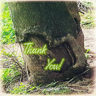 Digital Art - Thank You Naturally by Rachel Hannah