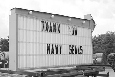 Thank You Navy Seals Bw Print by Lynda Dawson-Youngclaus