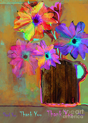 Thank You Flowers Art Print