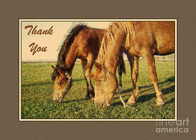 Digital Art - Thank You Painted Horses by JH Designs