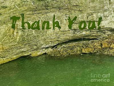 Photograph - Thank You Rock Wall  by Rachel Hannah
