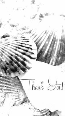 Digital Art - Thank You Seashell by Rachel Hannah