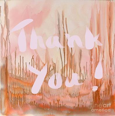 Painting - Thank You by Sheila McPhee