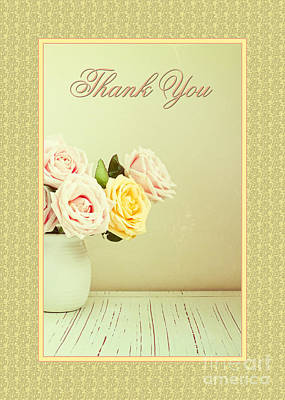 Digital Art - Thank You Soft Bouquet by JH Designs