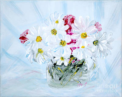Painting - Thank You. Thank You - Je Vous Remerci Collection Of 2 Paintings by Oksana Semenchenko