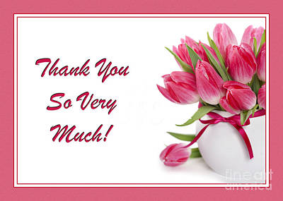 Digital Art - Thank You Tulip Bouquet by JH Designs