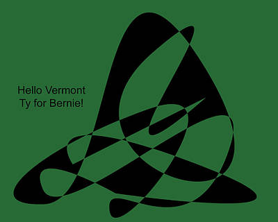 Digital Art - Thank You Vermont by David Bridburg