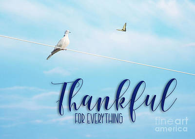 Mixed Media - Thankful For Everything by Mechala Matthews