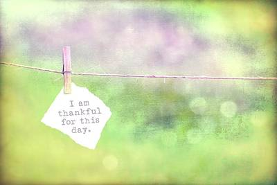 Photograph - Thankful For This Day by Terry DeLuco