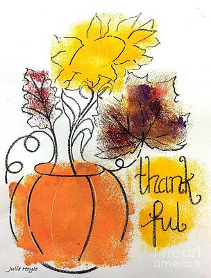Painting - Thankful by Julie Hoyle