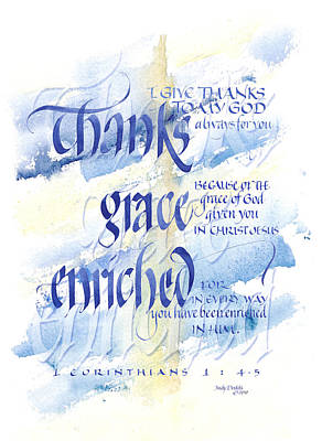 Thanks Grace   Art Print by Judy Dodds