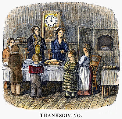 Photograph - Thanksgiving, 1853 by Granger