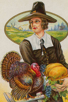 Painting - Thanksgiving by American School