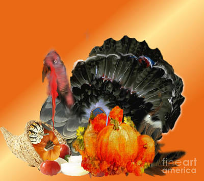 Painting - Thanksgiving At Its Best by Belinda Threeths