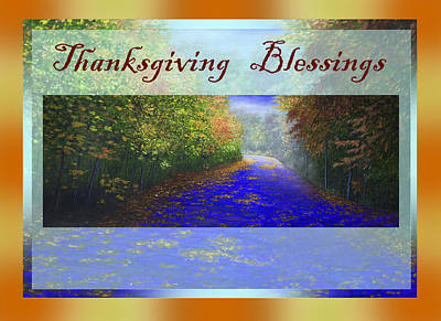 Painting - Thanksgiving Blessings by Saeed Hojjati
