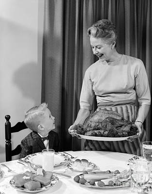 Bird Woman Falls Photograph - Thanksgiving, C.1960s by H. Armstrong Roberts/ClassicStock