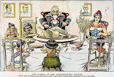 Photograph - Thanksgiving Cartoon, 1898 by Granger