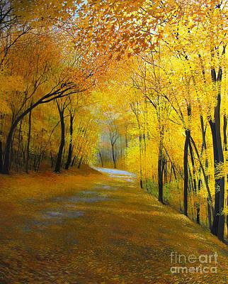 Brilliant Painting - Thanksgiving Day by David Bottini
