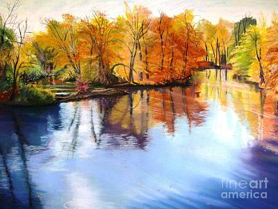 Thanksgiving Day II     Reflections On Blue Art Print by Lucinda  Hansen