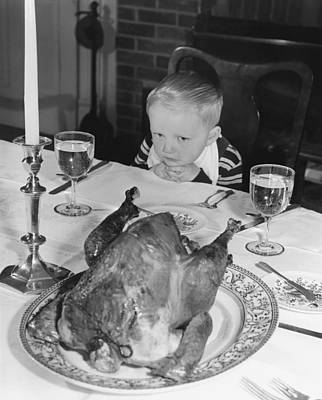 Photograph - Thanksgiving Dinner by American School