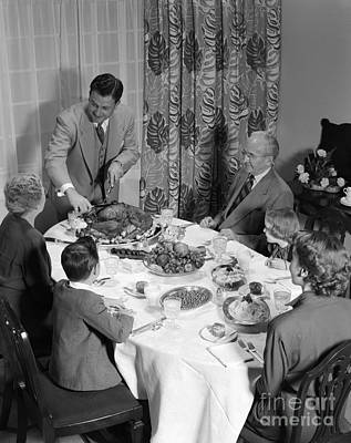 Thanksgiving Dinner, C.1950s Art Print by H. Armstrong Roberts/ClassicStock