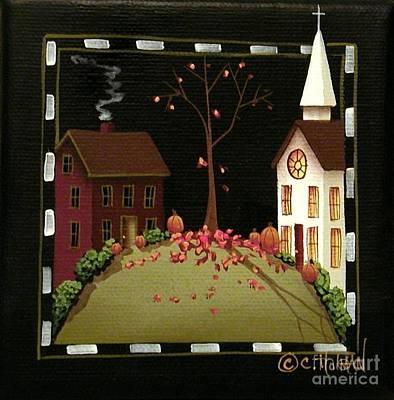 Thanksgiving In Kirkwood Village  Art Print by Catherine Holman
