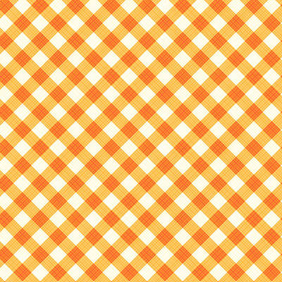 Thanksgiving Or Autumn Gingham Fabric Texture Art Print by Natalia Ratselmeister