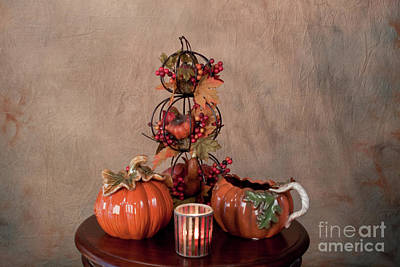 Photograph - Thanksgiving Pumpkins by Sherry Hallemeier