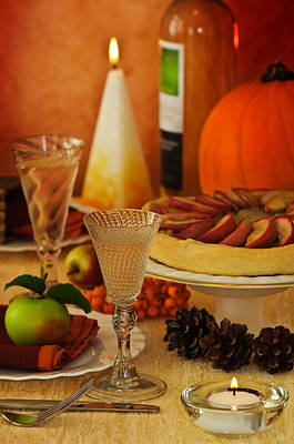 Table Setting Photograph - Thanksgiving Table by Amanda Elwell